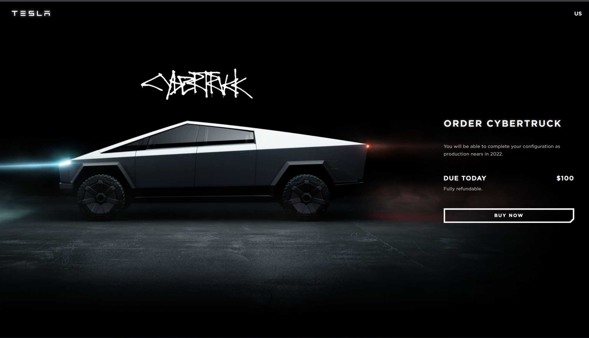 According to the Cybertruck order page, you'll be able to set up a configuration later.